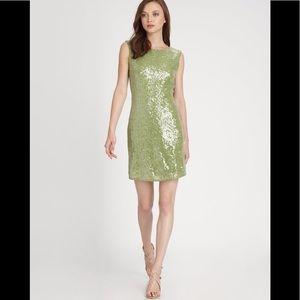 Alice +Olivia Ally Sequin mini dress, Moss,size 6